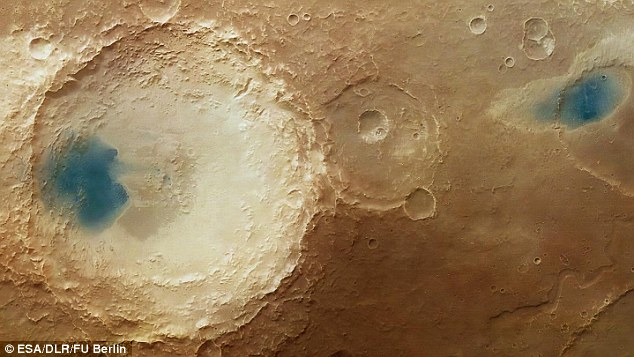 water pools on mars